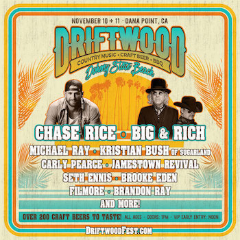 Driftwood flyer with music lineup and festival details