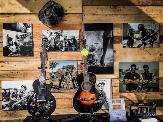 Acoustic guitars in Driftwood's Hall Of Heroes