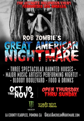 Rob Zombie's Great American Nightmare flyer