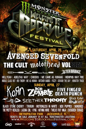 Monster Energy's Welcome To Rockville Festival flyer